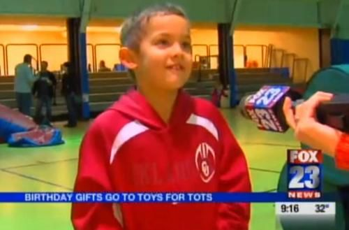 Brightens Up My Day Than Learning About Kids Doing Good Like For Example Chase Branscum Of Owasso Oklahoma Who Just Celebrated His Eighth Birthday