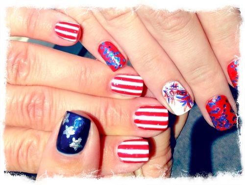 Nail this funky july 4th mani with a few easy diy tips qu ms fourth of july is just around the corner and im feeling inspired to dress up in red white and blue but lets face it its hard pulling together an solutioingenieria Choice Image