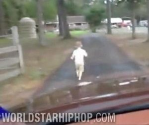 kid running in front of car