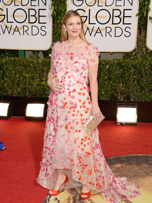 Drew Barrymore at Golden Globes