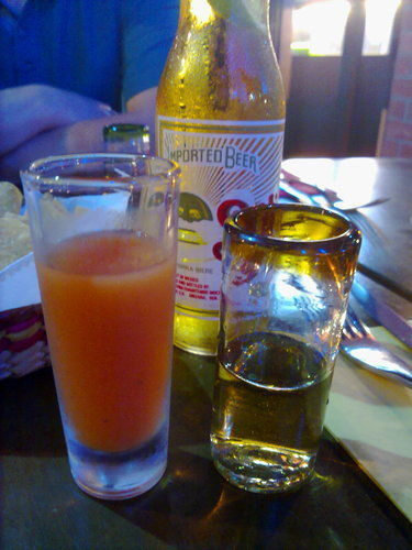 Tequila and sangrita
