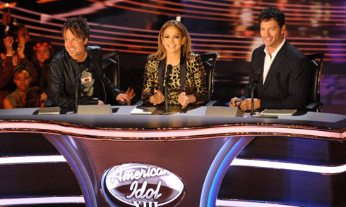 jennifer lopez keith urban and harry connic jr