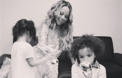 Mariah and her kids