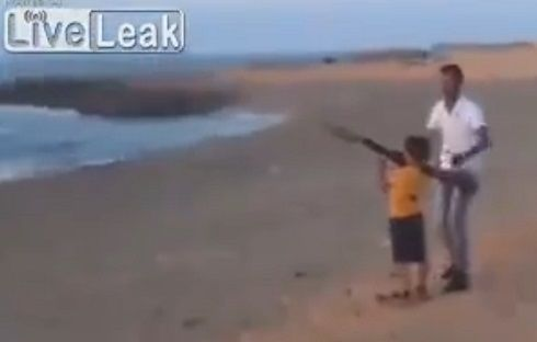 video of kid shooting an RPG