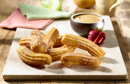 Churros with dulce de leche dip