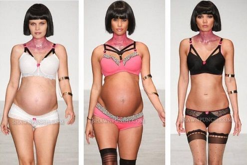 Pregnant Women in Lingerie