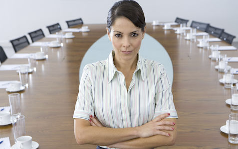 latina in board room