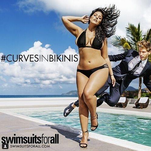 Ashley Graham in SwimsuitsForAll ad