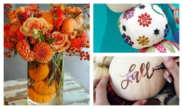 decorations with pumpkins