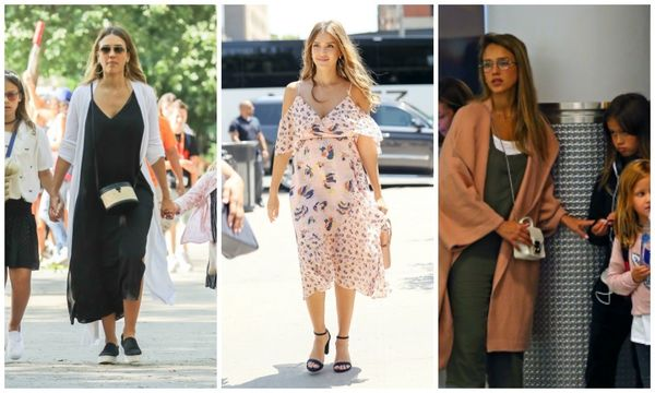 Jessica Alba's maternity fashion