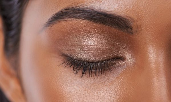 Exfoliating brows to prevent ingrown hairs and encourage growth