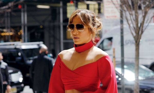 Jennifer Lopez slays in red