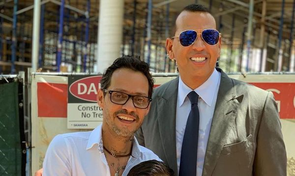 Marc Anthony and Alex Rodriguez