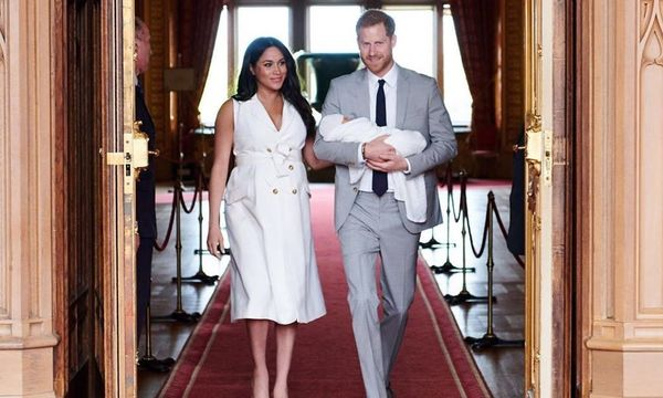 Prince Harry, Prince Archie, and Meghan Markle