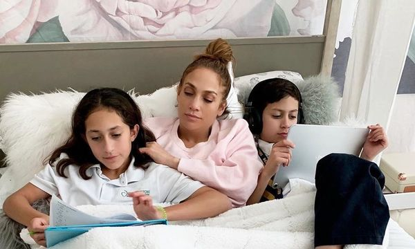 Jennifer Lopez with kids Emme and Max